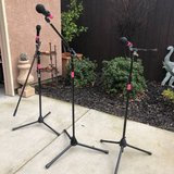 Set of 3 Microphone Stands with Microphones in Travis AFB, California