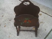 ANTIQUE WOOD MAGAZINE RACK in Tinley Park, Illinois