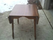 THIS TABLE IS A DROP LEAF CONDITION HARDLY USED in Orland Park, Illinois