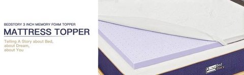 Twin Size Lavender Infused 3 Inch Mattress Topper - New! in Aurora, Illinois