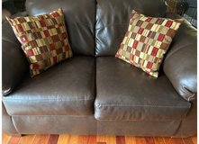 Ashley Faux Leather Sofa & Loveseat in Chicago, Illinois