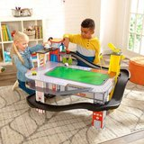 boy girl kids KidKraft Freeway Frenzy Raceway Set and Table in Naperville, Illinois
