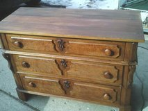 DRESSER ALL WOOD ,VINTAGE ,THREE DRAWERS ,DOVE TAILED KEY HOLED in Westmont, Illinois