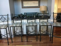 Five bar height bar stools- 80$ all in St. Charles, Illinois