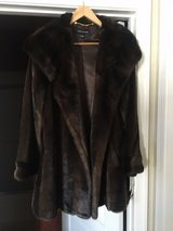 Faux mink coat mid thigh length Jones of New York Size Large in Fort Belvoir, Virginia