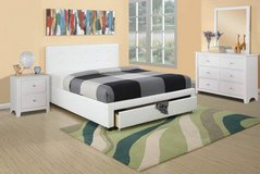 New! QUEEN White Bed Frame + Storage FREE DELIVERY in Camp Pendleton, California