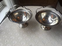 Two Mulholland Bros. silverplate pedestal bowls 5.5 x 6 inches in Fort Belvoir, Virginia