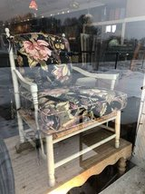 Classic floral chair and Ottoman in St. Charles, Illinois