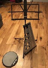 Percussion Instruments + Music Notes Stand in Quantico, Virginia