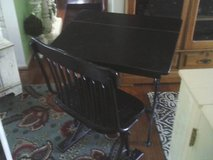 DESK MADE OF HARD WOOD WROTH IRON SCROLLED PATTERN ,HEAVY BOTH DESK A in Orland Park, Illinois