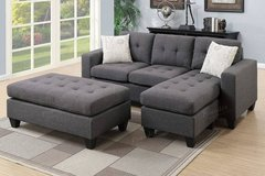 New! 2-Pcs Mini Sectional with Ottoman FREE DELIVERY in Huntington Beach, California