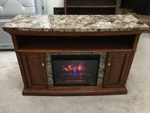 "56"" Faux Granite-Top Fireplace TV Stand/Media Console- Brown in Chicago, Illinois"