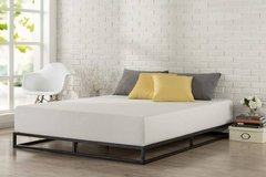 Queen Size Low Profile Platform Bed-No Boxspring Needed - New! in Bolingbrook, Illinois