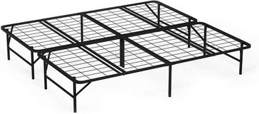 King Size Platform Bed Frame - No Boxspring Needed - New! in Bolingbrook, Illinois