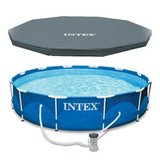 "Intex 13' x 39"" Metal Frame Above Ground Swimming Pool in Naperville, Illinois"