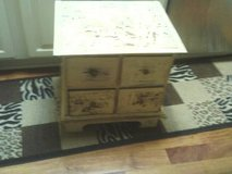 CABINET 4 LOW PROFILE DEEP DRAWERS' SHABBY CHIC CABINET ALL WOOD WAS T in Naperville, Illinois