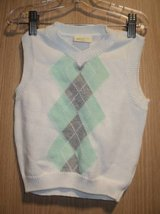 Crazy 8 Boys White, Teal Green & Gray Sweater Vest (T=41) in Fort Campbell, Kentucky