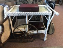 Wicker Serving Cart in St. Charles, Illinois