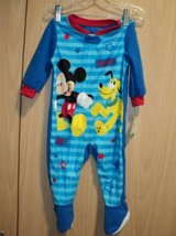 Disney Mickey Mouse Pluto Footed Pajama Blanket Sleeper Baby Boys(T=41 in Fort Campbell, Kentucky