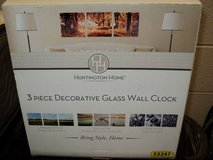 Huntington Home 3-Piece Decorative Glass Wall Clock (T=41) in Fort Campbell, Kentucky