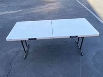 "Commercial Grade Professional Fold in Half Table with handle 72"" long in Camp Pendleton, California"