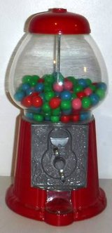 Carousel 1985 Junior Gumball Bank Machine -metal w/glass globe in Orland Park, Illinois