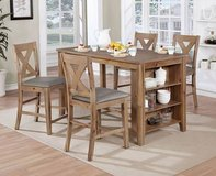 New! Rustic Style Natural Grain Counter Height Table and Chairs FREE D in Camp Pendleton, California