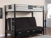 New! Twin and Futon Bunkbed with Optional Storage Drawers FREE DELIVER in Camp Pendleton, California