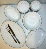 30pc Sango China Serving Platters Bowls Plates +Carving Set in Naperville, Illinois