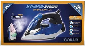 New! Conair Extreme Steam® Super Steam 1550W Iron ~GI100 in Bolingbrook, Illinois