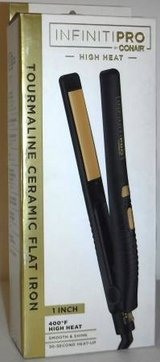 "New! Conair InfinitiPRO 1"" Tourmaline Ceramic Flat Iron in Bolingbrook, Illinois"