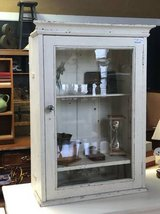 Vintage rustic white cabinet in Naperville, Illinois