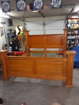 Solid wood king bed in The Woodlands, Texas