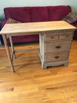 Solid maple wood 3 drawer vintage desk in Naperville, Illinois