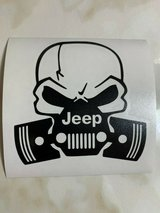 jeep scull vinyl decal for truck car suv  window in Spring, Texas