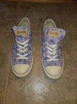 Women's Purple Floral Converses - EXCELLENT CONDITION in Quantico, Virginia