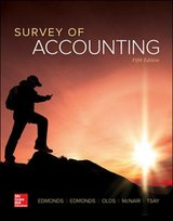 edmonds survey in accounting 5th ed courseware and homework solutions manual in Miramar, California