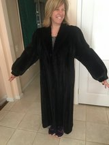 Merry Christmas to Your Wife!!  Marshall Fields Black Full Length Ranch Mink Coat in Fort Belvoir, Virginia