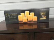 Set of 7 Remote Control Flameless Candles - Ivory in Batavia, Illinois