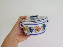 Antique/Vintage HB Quimper Ceramic Pot with Lid from Quimper, Brittany in 29 Palms, California