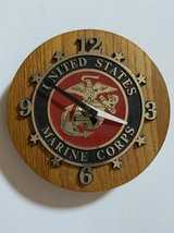 UNITED STATES MARINE CORPS WALL CLOCK QUARTZ MADE IN USA in Fairfield, California