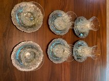 Traditional Chai Tea Crystal Cups and Saucers, set of 6 in Fort Leonard Wood, Missouri