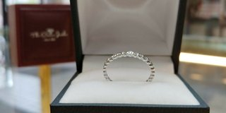 10kt white gold 1/5ctw diamond  band  size 7 in Camp Lejeune, North Carolina