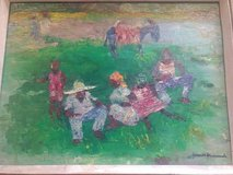 Original Haitian Oil Painting by Gesner Armand in Fort Leavenworth, Kansas