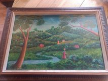 Original Haitian Oil Painting by Raymond D'Orlean in Kansas City, Missouri