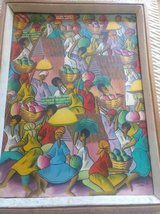 Original Haitian Oil Painting by C. Gerelis in Fort Leavenworth, Kansas