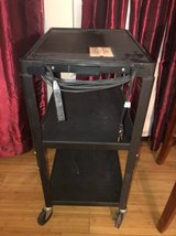 ELECTRONIC WHEELED CART TV STAND AUDIO VISUAL CART in Fort Carson, Colorado