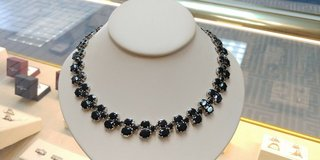 sterling silver black onyx necklace 18in. in Camp Lejeune, North Carolina