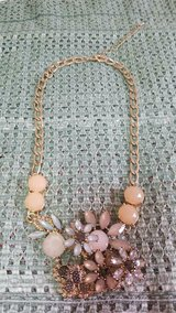 "Large Floral Rhinestone Necklace  20"" Plus 3"" extension chain.;  Excellent condition. in Bellaire, Texas"