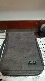 "New Gray Cloth Bible Cover! 17 1/2"" x 11"" ! Zips Up!! in Kingwood, Texas"